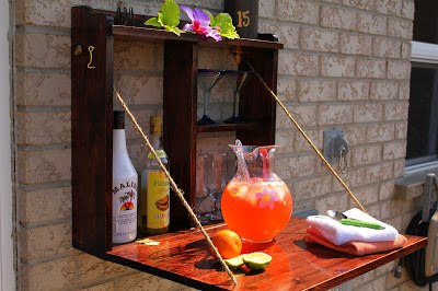 Construct this simple bar for outside entertaining.