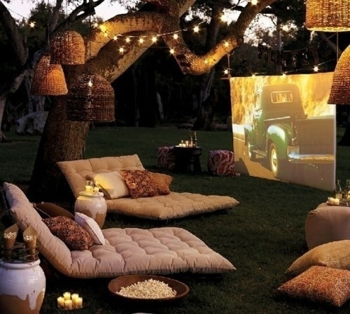 Set up a movie theater.