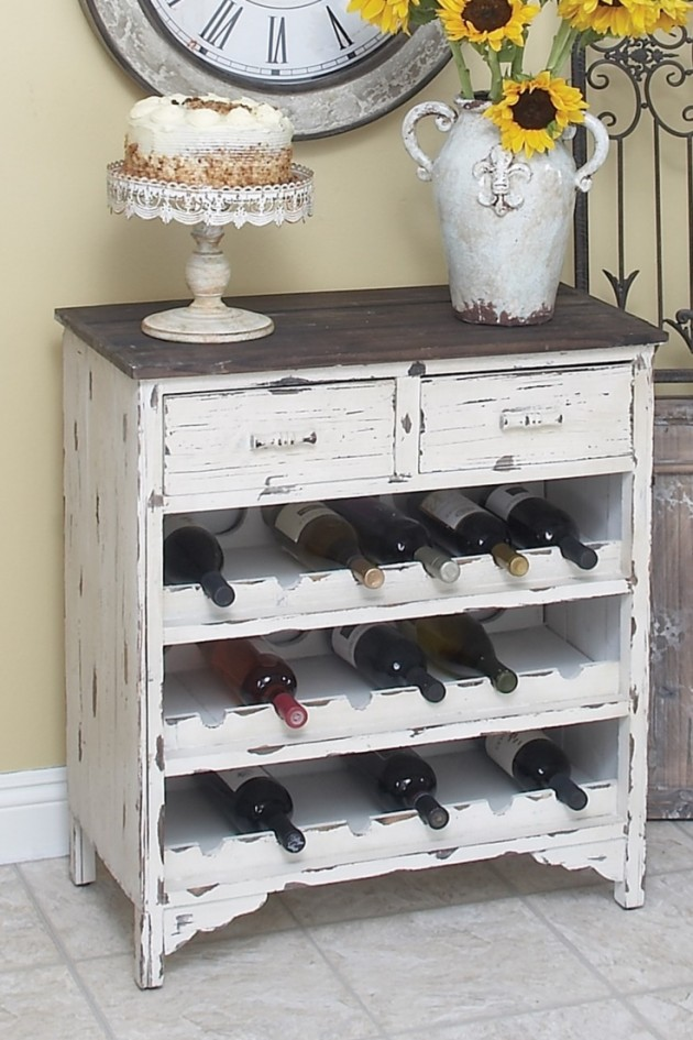 old dresser to wine rack