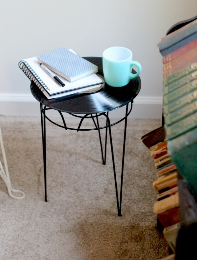record to side table
