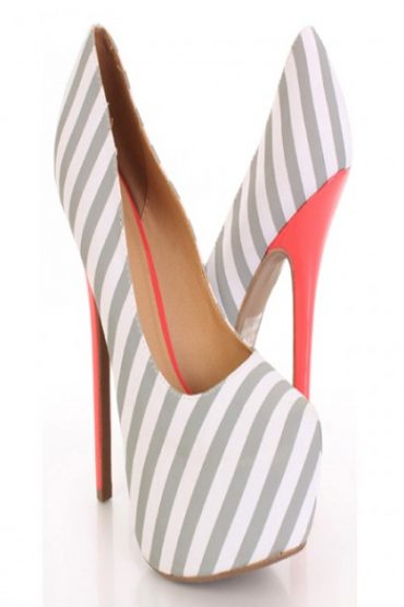 Light Grey Striped Pumps (3)