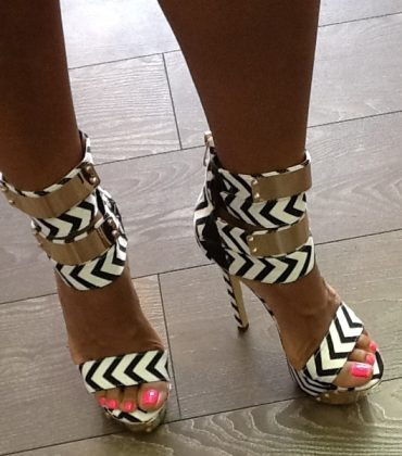 Black And White Chevron Pumps