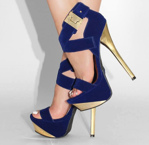 Blue Gold Pumps