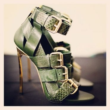 Green High Ankle Heels