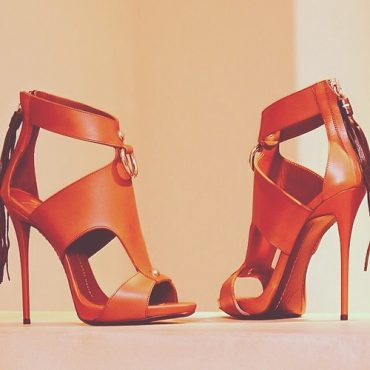 Orange Fringy Pumps