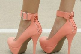 Peachy Lace Pumps