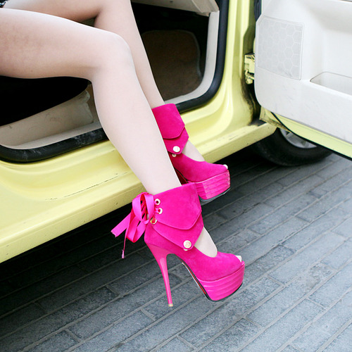 Pink Peep Toe Pumps
