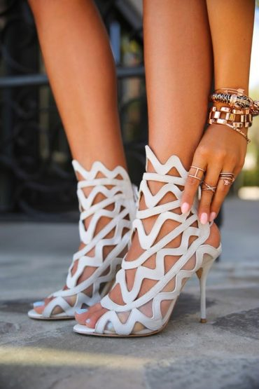 White Ankle Pumps