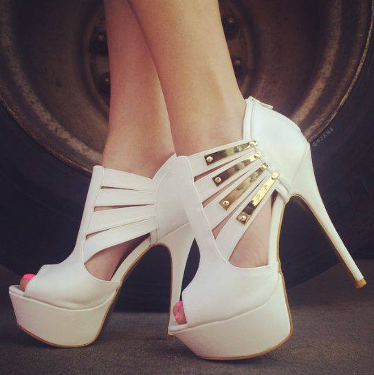 White Gold Pumps