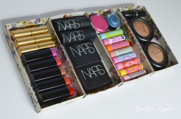 Makeup Storage Repurpose Discarded Christmas Boxes