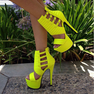 Neon Yellow Pumps