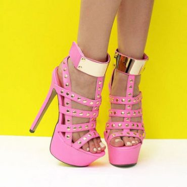 Pink Gold Pumps