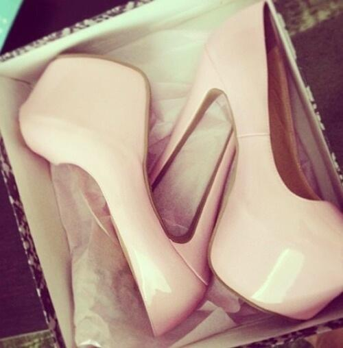 Shiny Pink Pumps