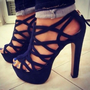 Black Criss Cross Pumps