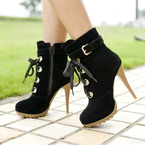 Lace Up Metal Pumps