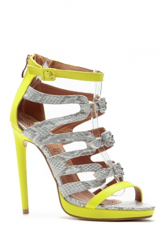 Yellow Buckled Pumps